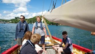 Classic Sailing Boat Trips from Polruan Fowey Cornwall
